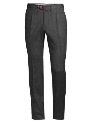 Birdseye Slim Wool Trousers