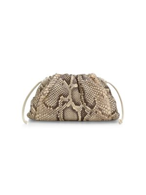 Small The Pouch Python-Embossed Leather Clutch