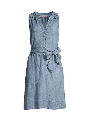 Anemones Tie-Waist Dress