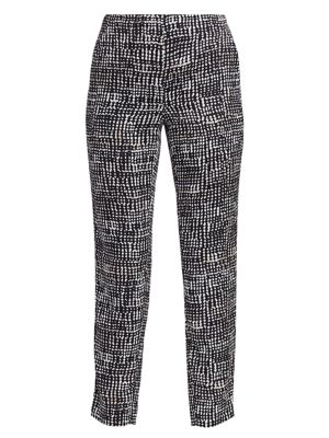 Petite Dotted Lines Slim Pants
