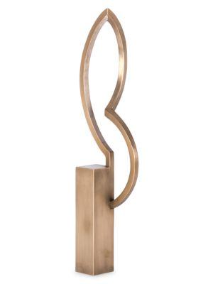 Small Bronze Patina Dancer Lamp