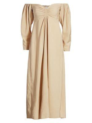 Calley Off-The-Shoulder Midi Dress