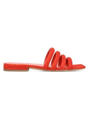 Zahara Flat Suede Sandals