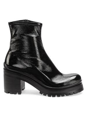 Lug-Sole Platform Ankle Boots