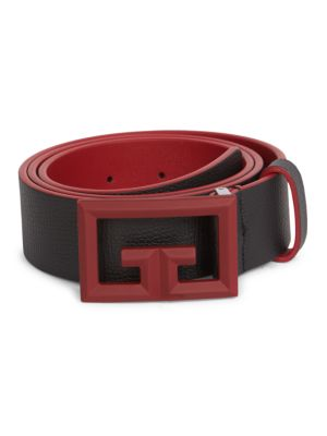 Rubber 2G Buckle Leather Belt