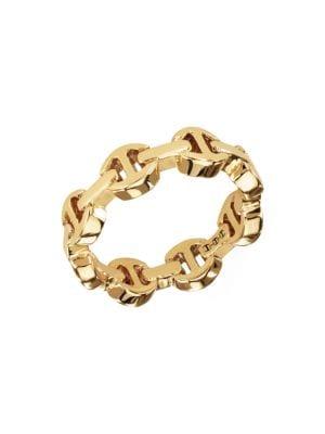 Dame Tri-Link 18K Yellow Gold Ring