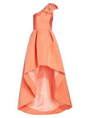 Blair High-Low Silk Gown