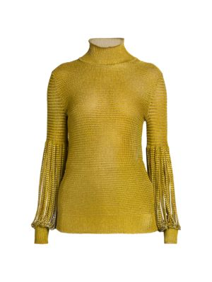 Chain Knit Turtleneck Sweater