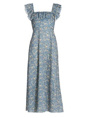 Carnaby Ruffle Floral Midi Dress
