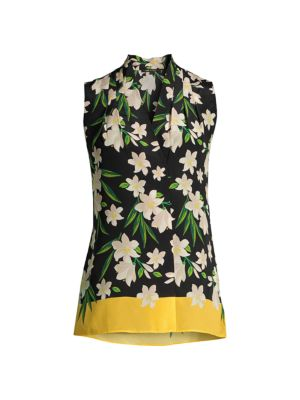 Deena Floral Silk Top