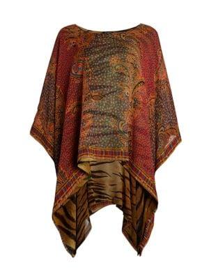 Solisia Reversible Silk Poncho