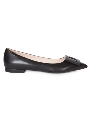 Gommettine Ball Leather Point-Toe Flats