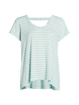 Open-Back Striped T-Shirt