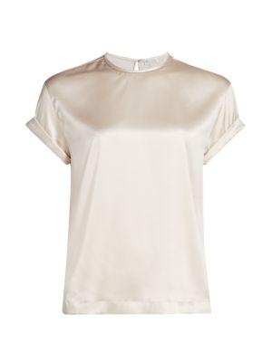Stretch-Silk Crewneck Shirt