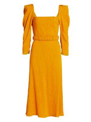 Lotus & Beetle Sash Midi Dress