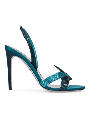 Knotted Crystal-Embellished Slingback Sandals