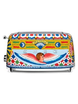 Smeg x Dolce & Gabbana Sicily Is My Love 4-Slice Toaster