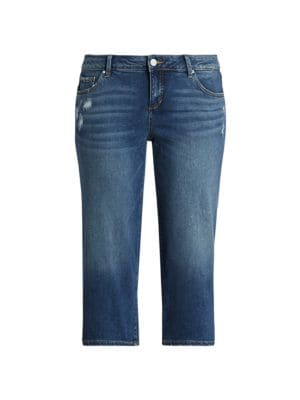 Mid-Rise Wide Cropped-Leg Jeans