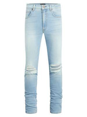 Greyson Distressed Skinny Jeans