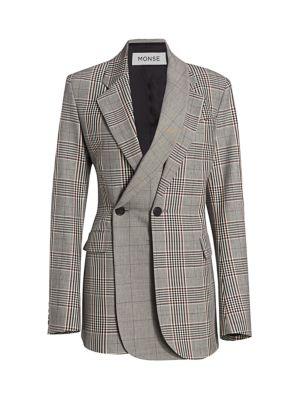 Multi-Plaid Double Layer Jacket