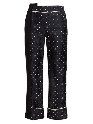 Dotted Contrast Trousers