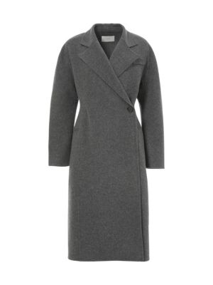 One Button Wool Handmade Coat