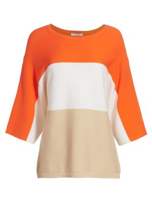 Petite Colorblock Cotton Sweater