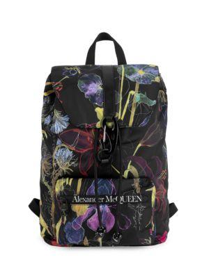 Urban Floral & Bug-Print Backpack