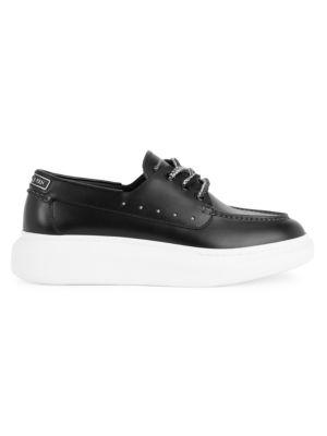 Men's Platform Leather Boat Shoes