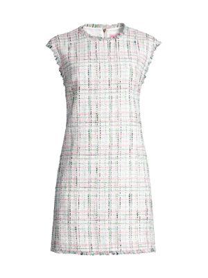 Pastel Tweed Shift Dress
