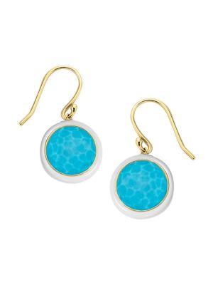 Lollipop Carnevale 18K Yellow Gold & Turquoise Doublet Drop Earrings