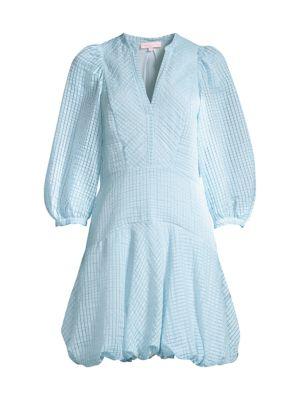 Organdy Stripe Puff Dress