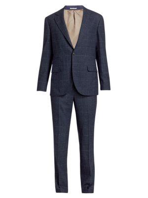 Windowpane Overcheck 2-piece Suit