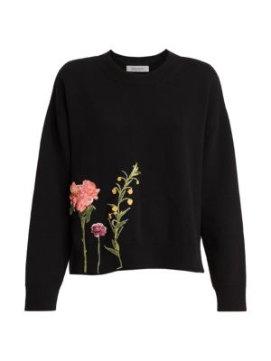Embroidered Wool & Cashmere Sweater