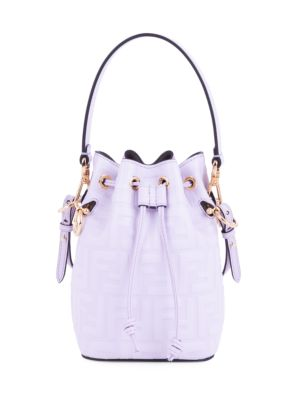 Mini Mon Tresor FF Leather Bucket Bag