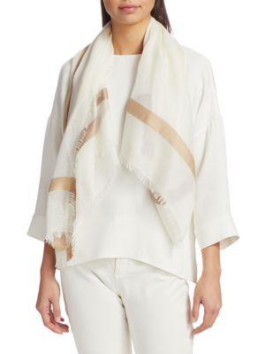 Large Square Cashmere & Silk Scarf