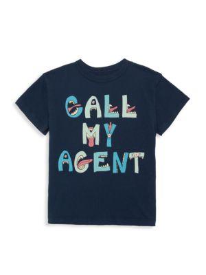 Little Boy's & Boy's Call Me Agent Graphic T-Shirt