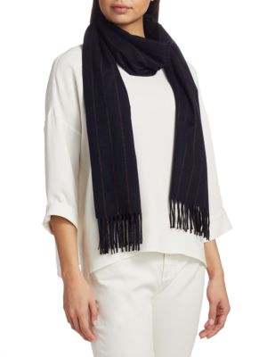 Large Pinstriped Cashmere Scarf