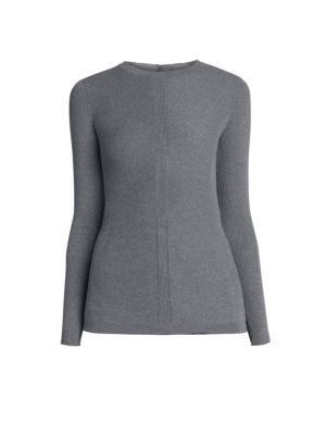 Rib-Knit Long-Sleeve Sweater