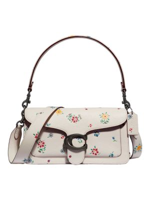 Tabby Wildflower-Print Leather Shoulder Bag