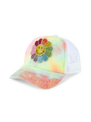 Tie-Dye Floral Crystal Baseball Cap