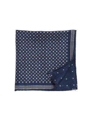 Diamond & Square Embroidery Silk Pocket Square