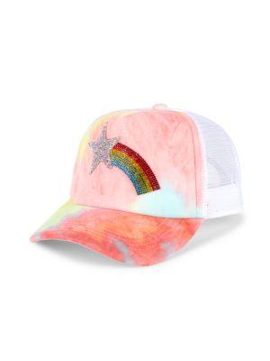 Rainbow Crystal Tie-Dye Baseball Cap