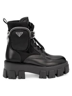 Lug-Sole Combat Boots