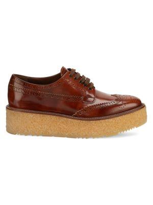 Leather Platform Derby Shoes