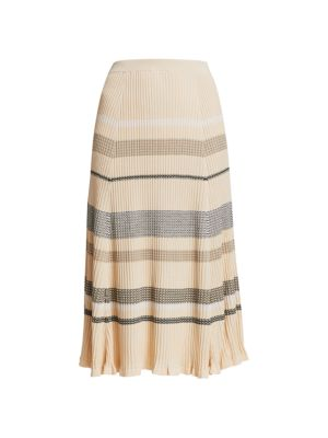 Zig-Zag Knit Midi Skirt