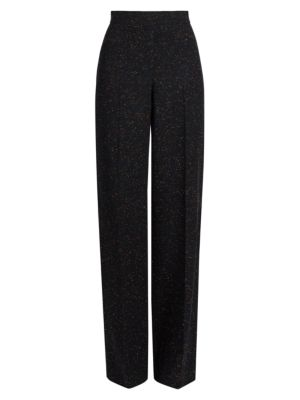 Mixed Straight-Leg Trousers