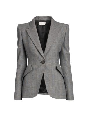 Peak Shoulder Wool Blazer Jacket