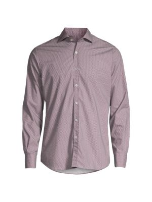 Abstract Graphic Print Sport Shirt
