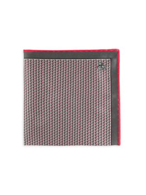 Abstract 3D Cube Silk Pocket Square